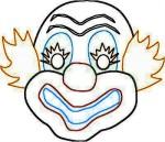 mmini-clown-mask