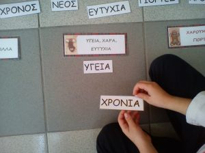 Κάνουμε αντιστοίχηση λέξεων... Αντί για την λέξη ΧΑΡΑ, πιάνει την λέξη ΧΡΟΝΙΑ...